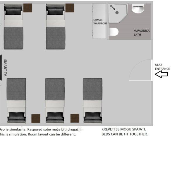 Peterokrevetna soba hostel za web 2